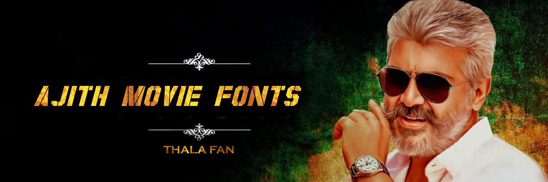 Ajith Movie Font Generator