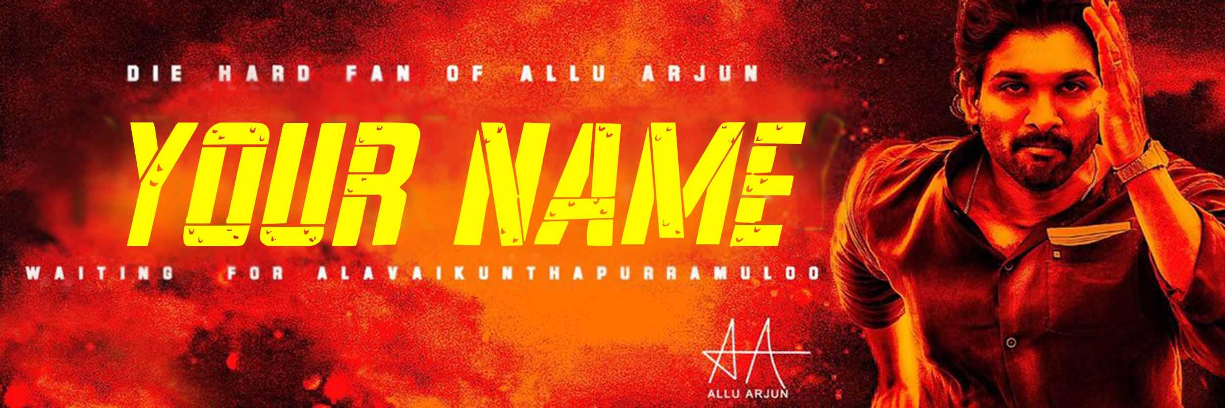 Ala Vaikunthapurramloo Movie Common Cover Picture Font Generator
