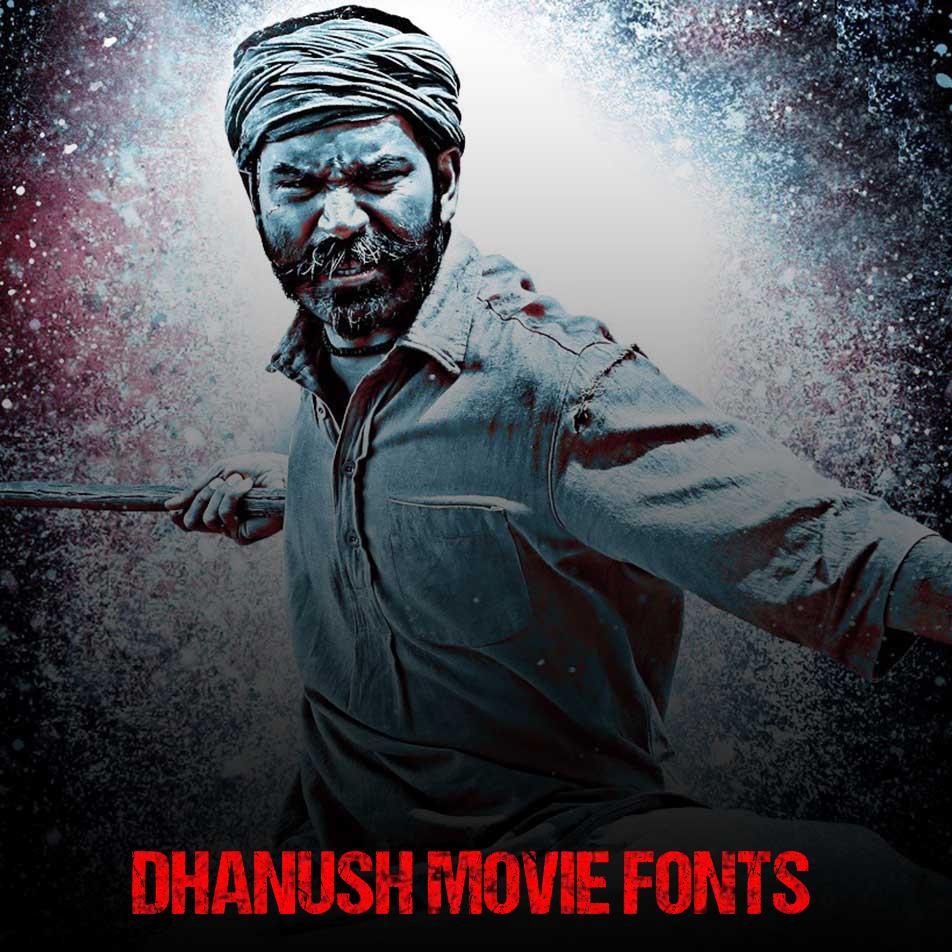 Dhanush Movie Font Generator