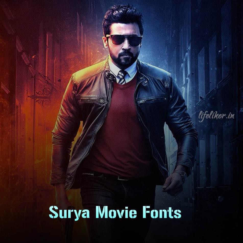 Surya Movie Font Generator